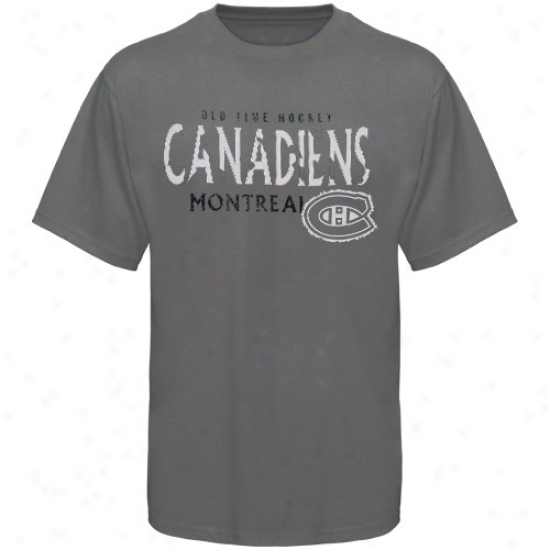 Montreal Habs T-shirt : Old Time Hockey Montreal Habs Charcoal St. Croix T-shirt