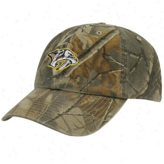 Nashville Predator Caps : Twins Enterprises Nashville Predator Camouflage Real Tree Cleanup Adjustable Caps