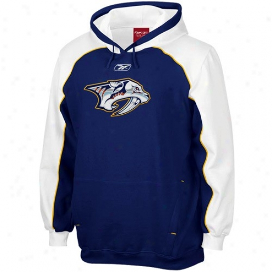 Nashville Predator Fleece : Reebok Nashville Predator Navy Blue Franchise Fleece