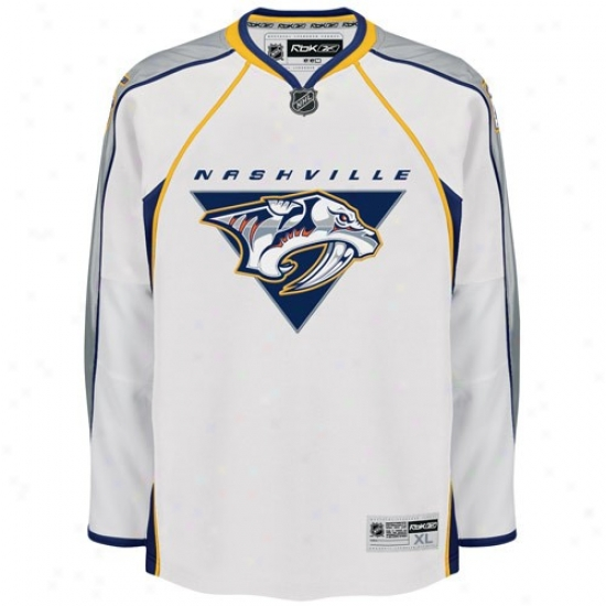 Nashville Predator Jersey : Reebok Nashville Predator White Premier Hockey Jersey