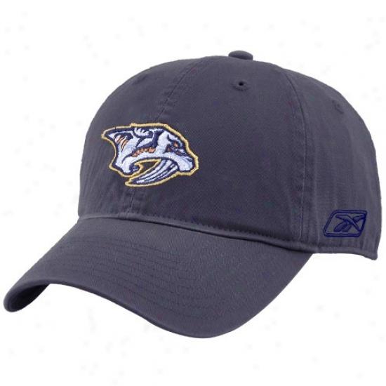 Nsshvillle Predator Merchandise: Reebok Nashville Pedator Navy Blue Unstructured Slouch Hat