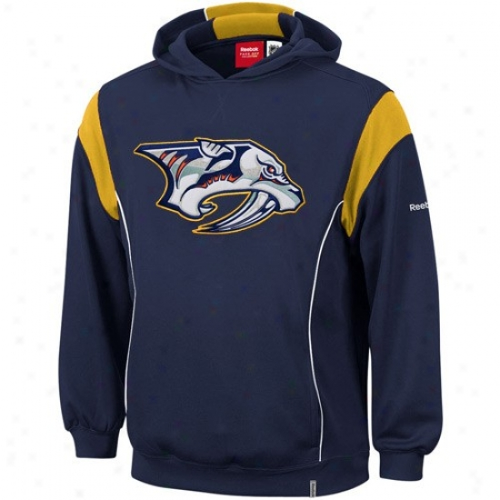 Nashville Predator Sweatshirt : Reebok Nashville Predator Navy Blue Showboat Sweatshirt
