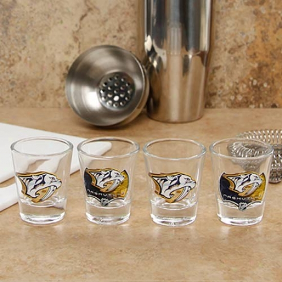 Nashville Predators 4-pack Enhanced Proud Definition Design Shot Glass Set