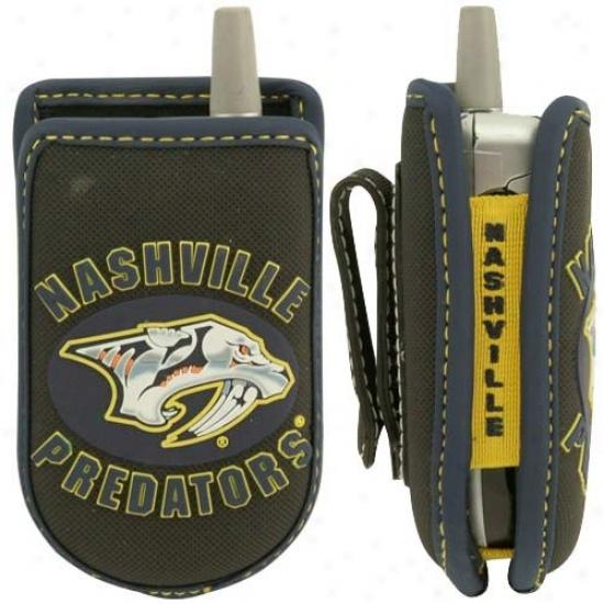 Nashville Predators Black Game Wear Hockey Puck Cell Phone Case