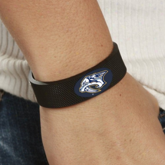 Nashville Predators Black Hockey Bracelet