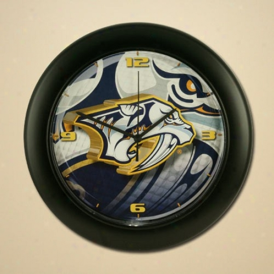 Nashville Predators High Definition Wall Clock