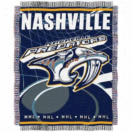 Nashville Predators Jacquard Woven Blanket Throw