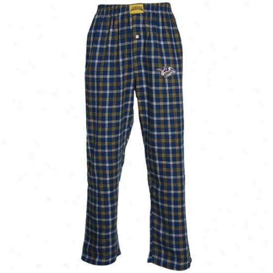 Nsshville Prexators Navy Blue Plaid Tailgate Flannel Pajama Pants