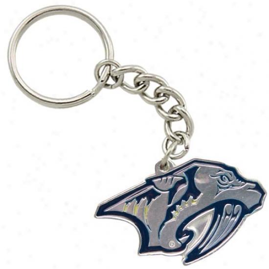 Nashville Predators Pewter Primary Logo Keychain