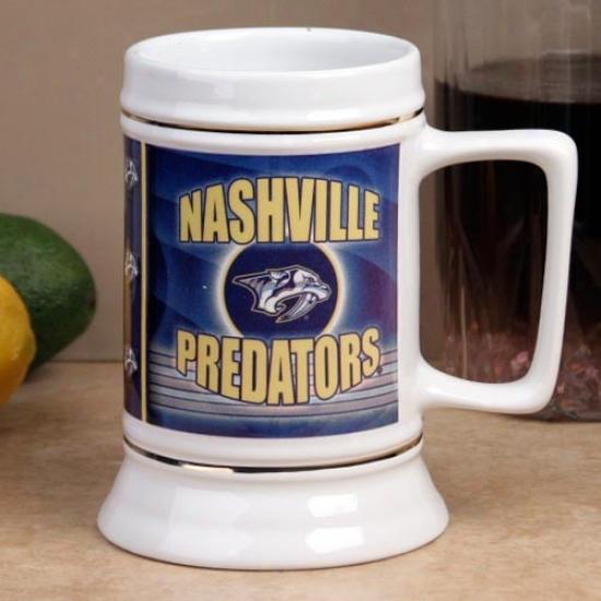 Nashville Predators Slapshot 28oz. Ceramic Stein