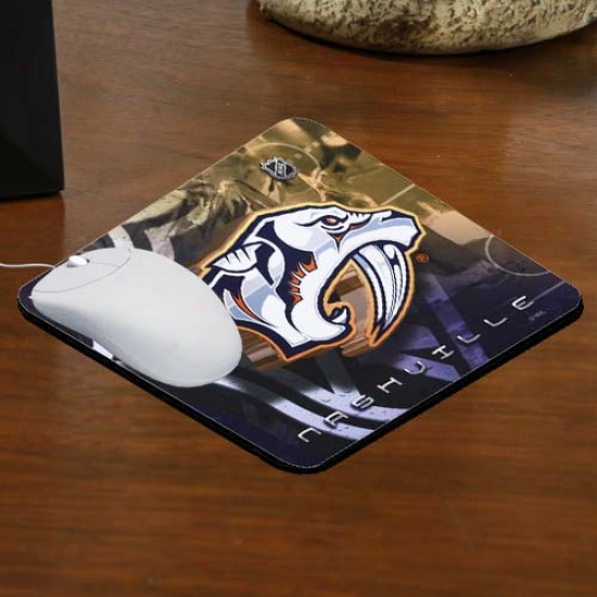 Nashville Predators Team Logo Neoprene Mousepad