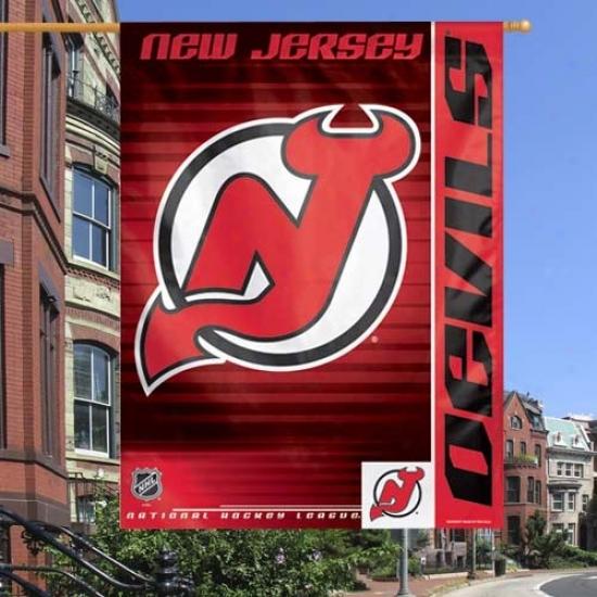 New Jersey Devil Banner : New Jersey Devil Red 27'' X 37'' Vertical Banner Banner