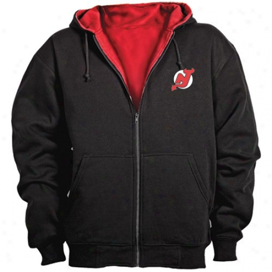 New Jersey Spice excessively Sweat Shirts : New Jersey Devil Black Artisan Workman's Full Zip Exude Shirts