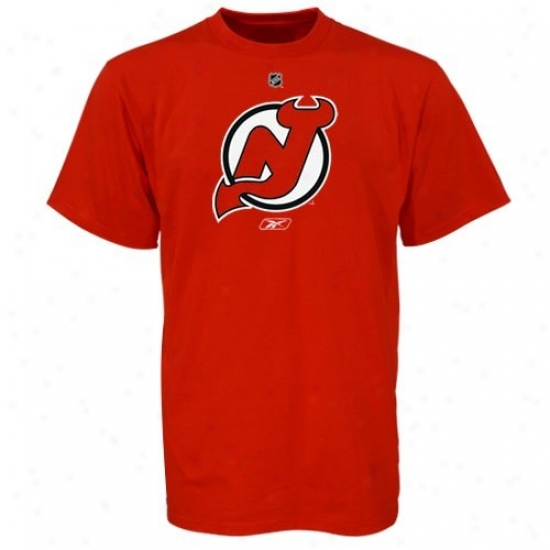 New Jersey Devil Tshirts : Reebok New Jersey Devil Youth Red Chief Logo Tshirts