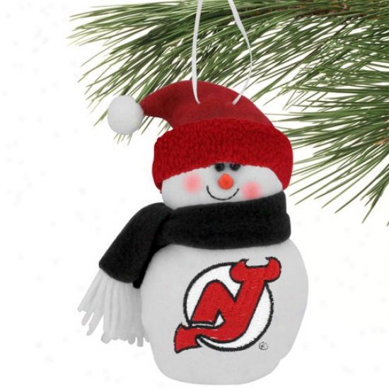 New Jersey Devils 6'' Plush Snowman Ornament