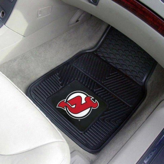 New Jersey Devils Black 2-piece Vin6l Car Mat Set