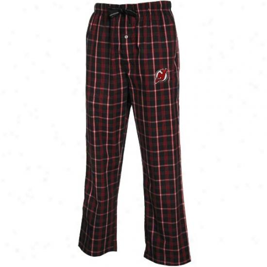 New Jersey Devils Black Plaid Genuine Pajama Pants
