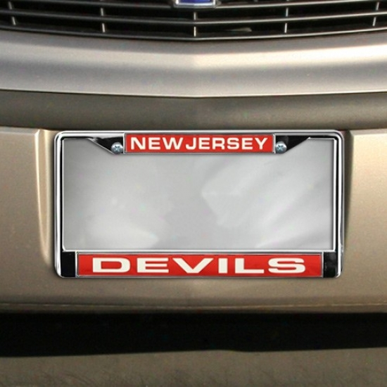 New Jersey Devils Chrome License Plate Fabricate