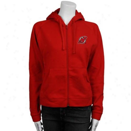 New Jersey Devils Fleece : Antigua New Jersey Devils Ladies Red Full Zip Fleece