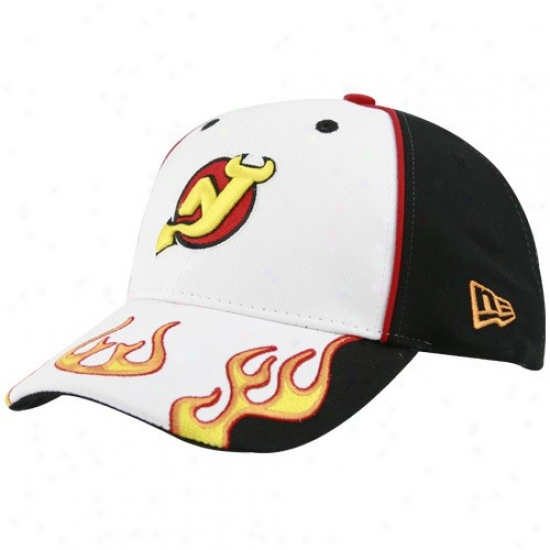 New Jersey Devils Hat : New Era New Jersey Devils Youth White Cool Flames Hat