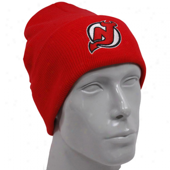 Nrw Jersey Devils Hats : Reebok New Jersey Devils Red Watch Knit Beanie