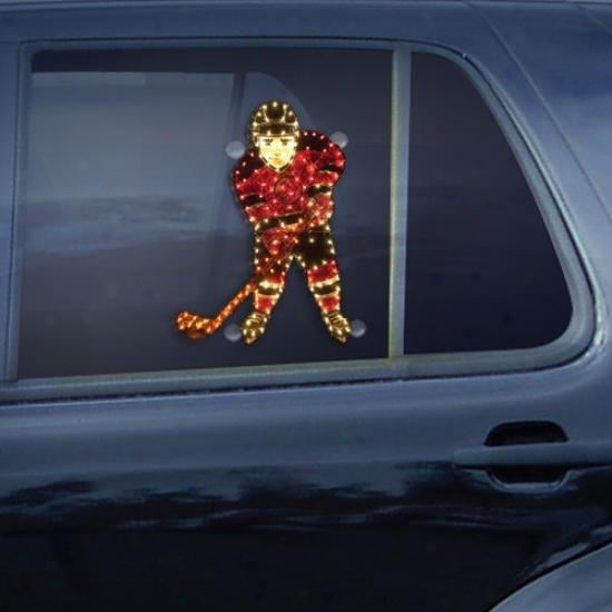 New Jersey Devils Hockey Player Car Window Light