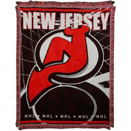 New Jersey Devils Jacquard Woven Blanket Thrrow