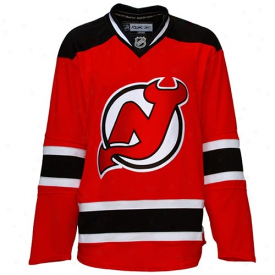 New Jersey Devils Jersey : Reebok New Jersey Devios Red Authentic Nhl Jersey