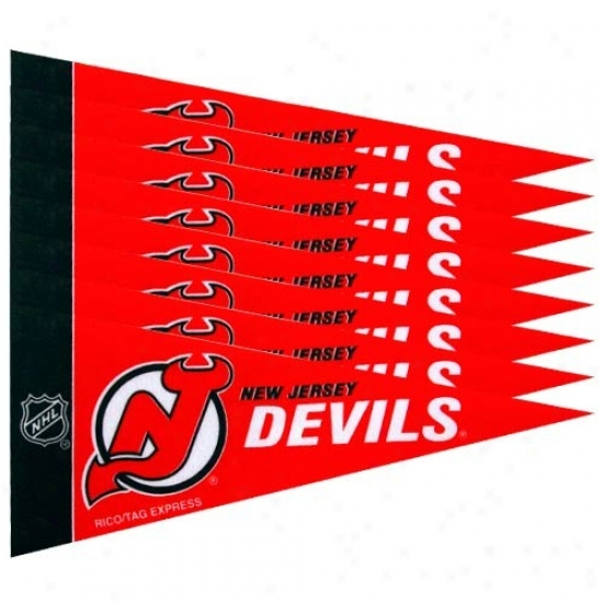 New Jersey Devils Red 8-pack Miji Pennant Set