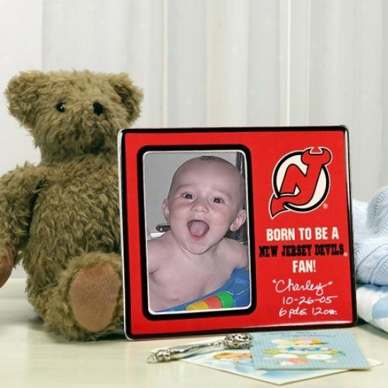 New Jersey Devils Red Born To Be Picture Framw