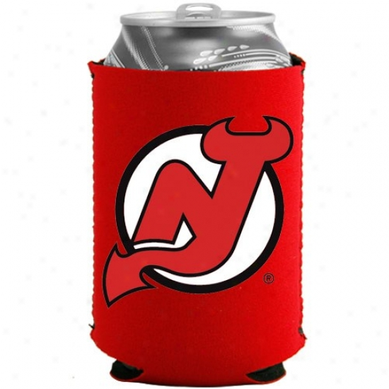 New Jersey Devils Red Collapsible Can Coolie