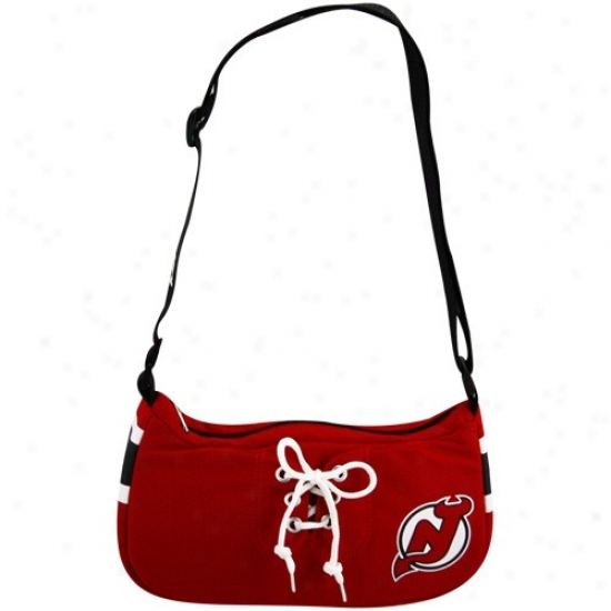 New Jersey Devils Red Hockey Jersey Purse