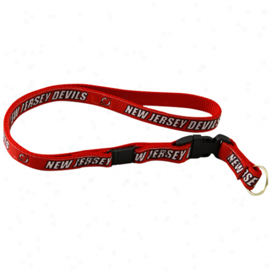 New Jersey Devils Red Lanyard