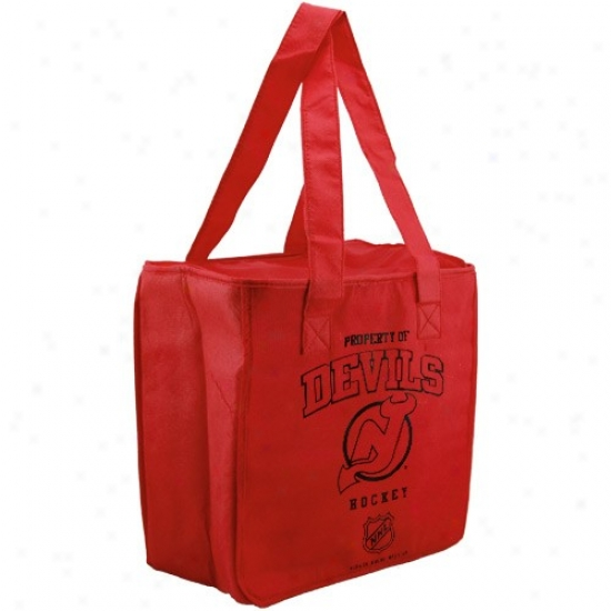 New Jersey Devils Red Reusable Insulated Carry Bag