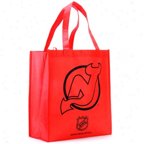 New Jersey Devils Red Reusable Tote Bag