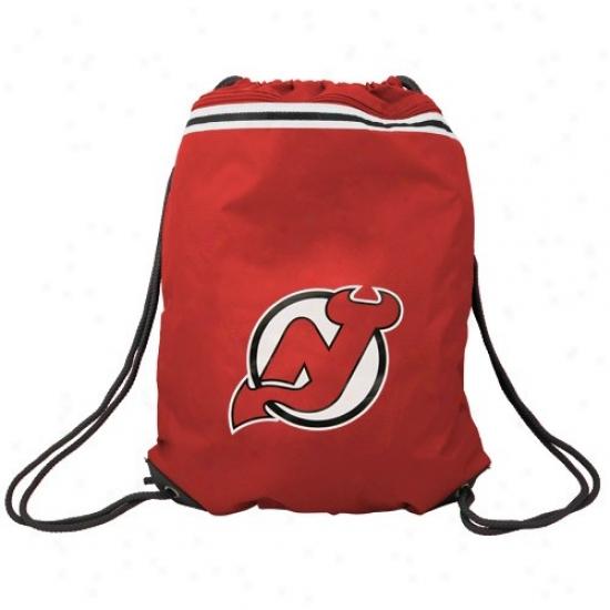 New Jersey Devils Rrd Team Logo Drawstring Backpack