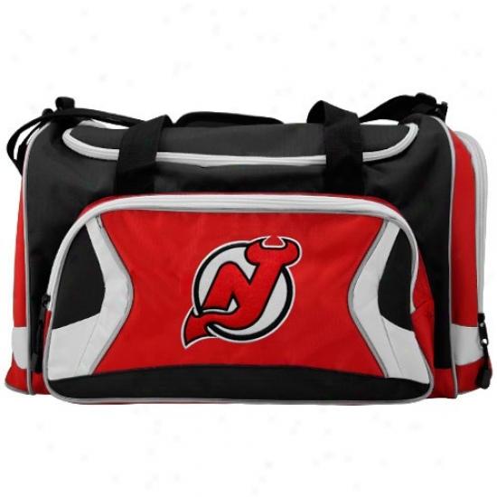 New Jersey Devils Red Tem Logo Duffle Bag