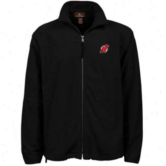 New Jersey Devils Sweat Shirt : Antigua New Jersey Devils Mourning Scoore Full Zip Sweat Shirt Jacket