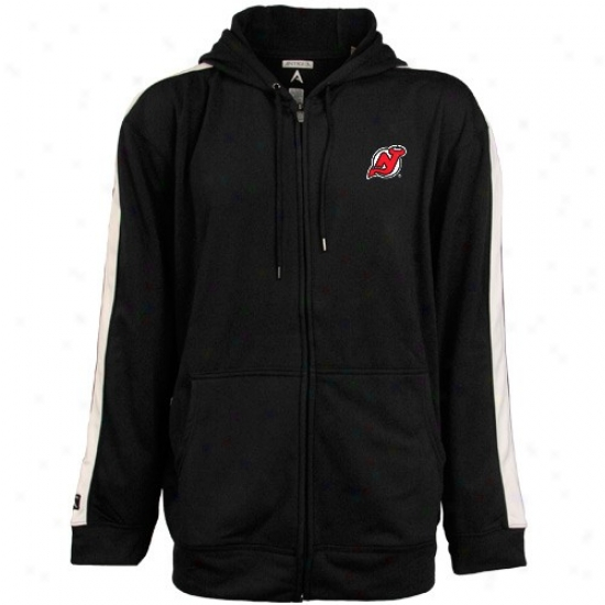 New Jersey Devils Sweat Shirts : Antigua New Jets3y Devils Dark Sonic Full Zip Sweat Shirts