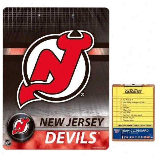 New Jersey Devils Team Logo Clipboard
