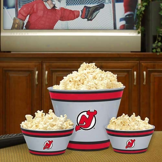 New Jersey Devils Three-piece Melamine Serving Set