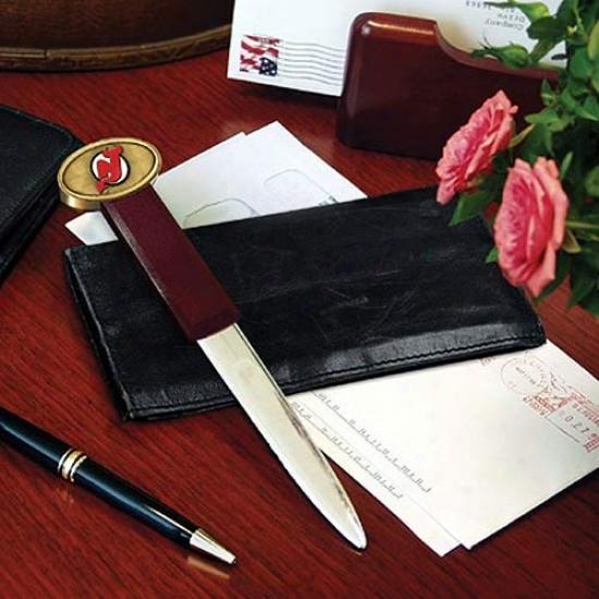 New Jersey Devils Wooden Letter Opener