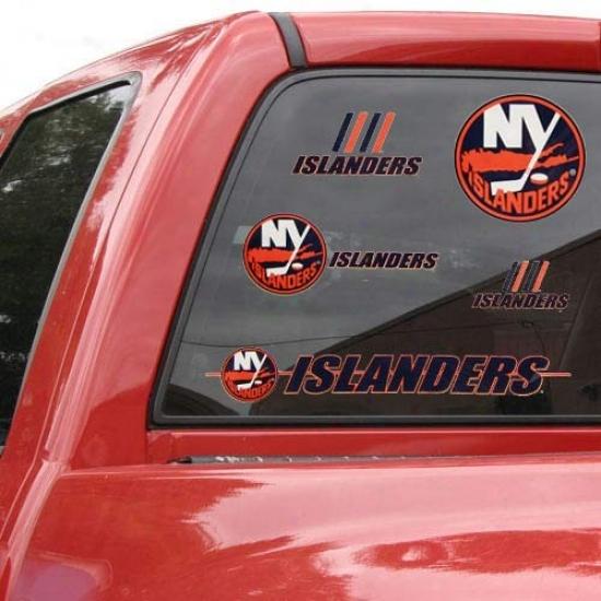 New York Islanders 11'' X 17'' Window Clings Sheet