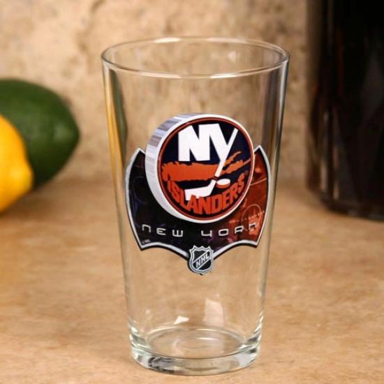 New York Islanders 17 Oz. Enhanced Hi-def Mixing Glass