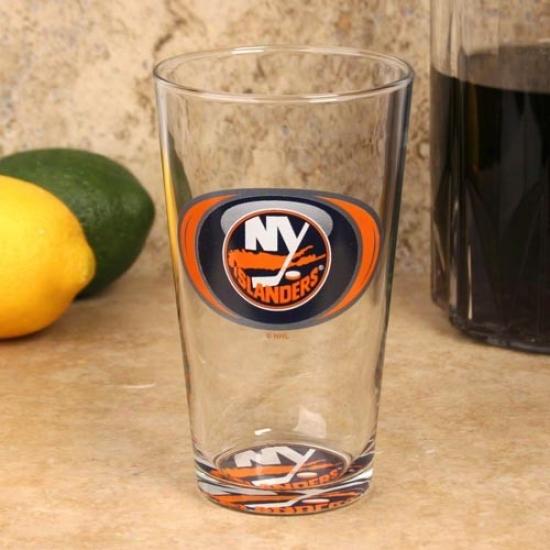 New York Islanders 17 Oz. Vortex Bottoms Up Mixing Glass