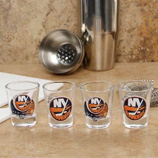 New York Islanders 4-pack Enhanced High Definition Intention Shot Glass Set