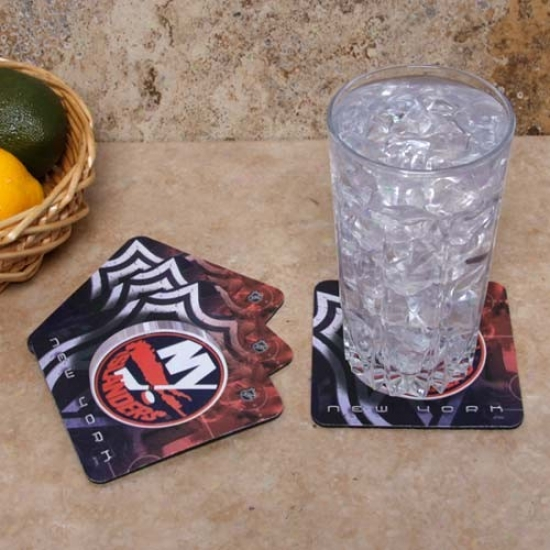 New York Islanders 4-pack Sublimated Logo Neoprene Coaster Set