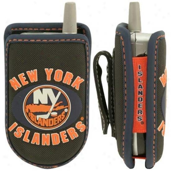 New York Islanders Black Game Wear Hockey Puck Cell Phone Case