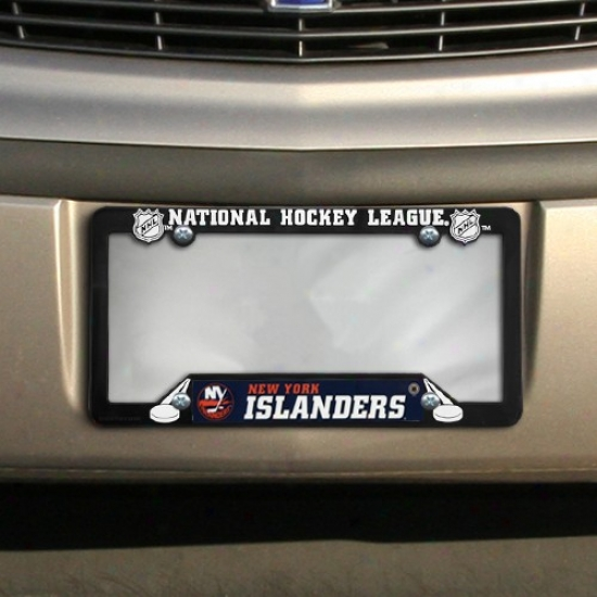 New York Islanders Black Plastic License Plate Frame