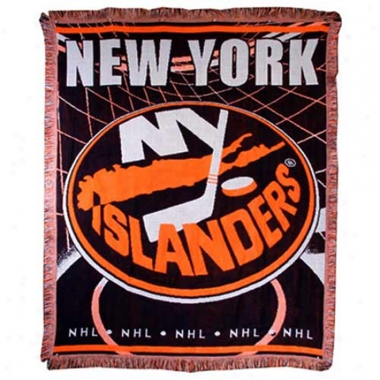 New York Islanders Focus Woven Blanket Throw